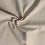 Tissu en coton et polyester aspect lin uni beige