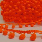 Galon pompoms. Kleur Fluogeel