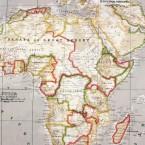 Tissu en coton et polyester à motif carte du monde beige