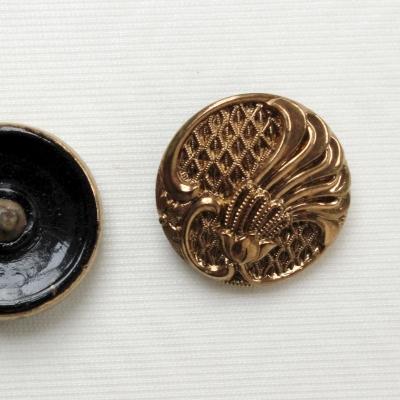 Bouton en métal doré