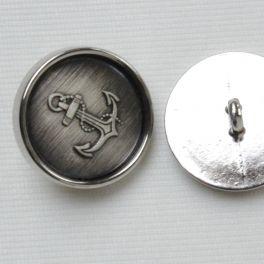 Bouton en métal à motif ancre