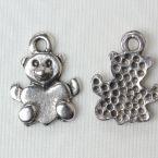 Bouton ourson en métal
