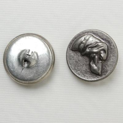 Bouton en métal avec motif chien