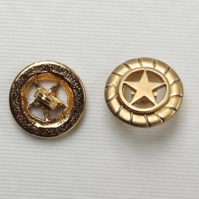 Bouton en métal doré à motif étoile