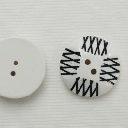 Witte en zwarte polyester knoop
