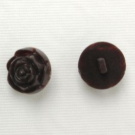 Dark brown polyester button