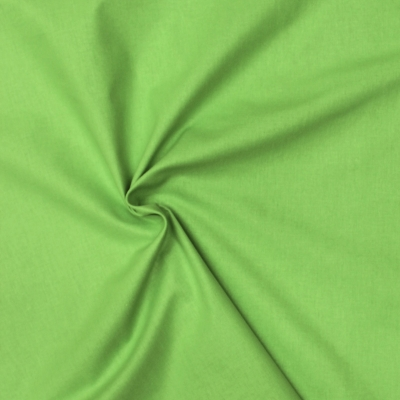 Cretonne fabric - plain pistachio green