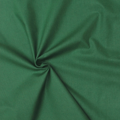 Cretonne fabric - plain empire green