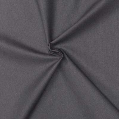 Cretonne fabric - plain lead grey
