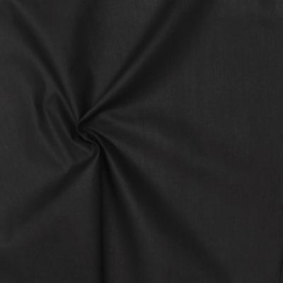 Cretonne fabric - plain black