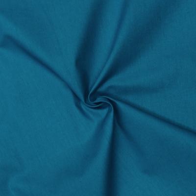 Tissu cretonne uni bleu céramique