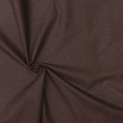 Cretonne fabric - plain chocolate brown