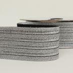 Zilverkleurige elastische riem