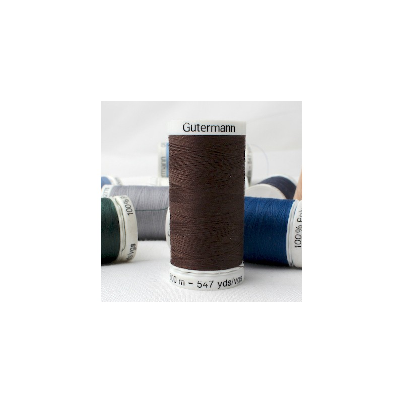 Brown sewing thread
