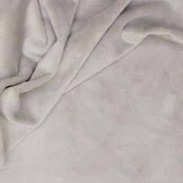 Gray Minky velvet fabric