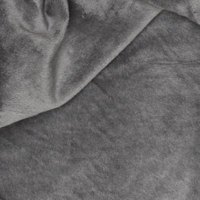 Minky Fleece Stof effen antracietgrijs