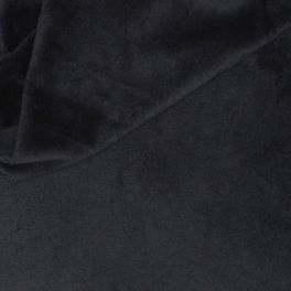 Minky Fleece Stof effen zwart