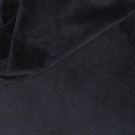 Velours Minkee aspect lisse uni noir