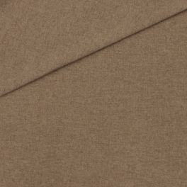 Meubelstof in polyester met flanellen aspect. Muisgrijs gevlekt