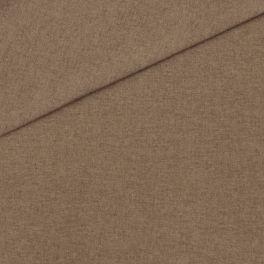 Meubelstof in polyester met flanellen aspect. Donkerbruin gevlekt