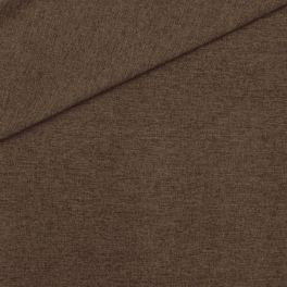 Meubelstof in polyester met flanellen aspect. Kastanjebruin gevlekt