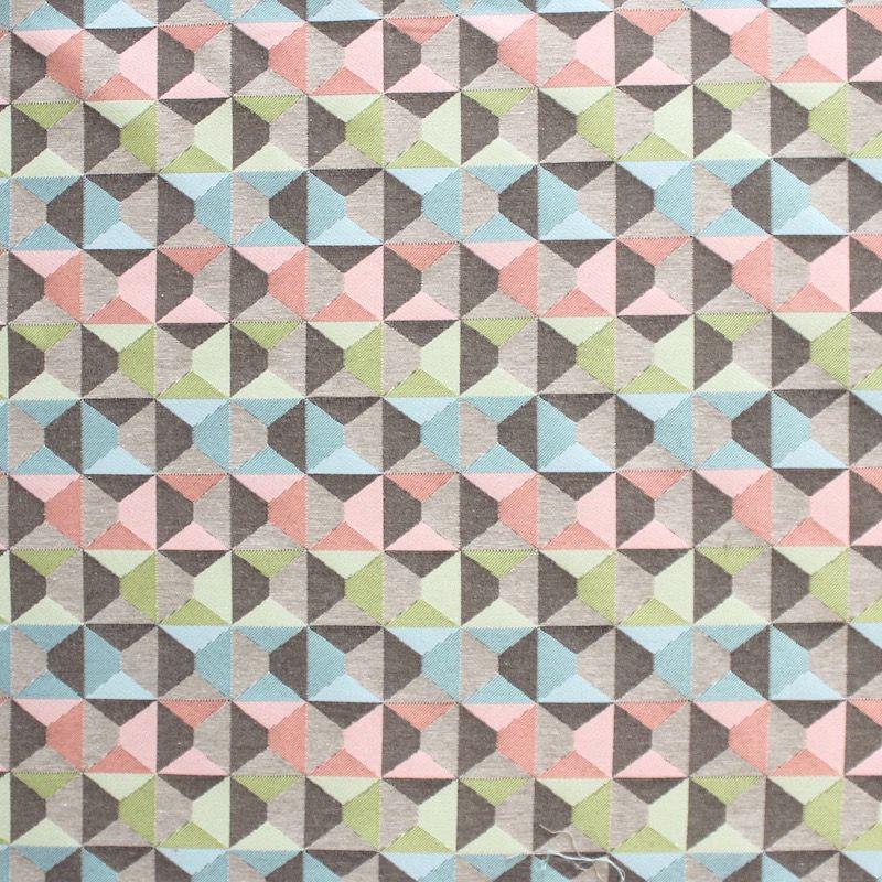 tissu jacquard motifs g om triques au m tre. Black Bedroom Furniture Sets. Home Design Ideas