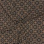 Zwart, bruin en wit kledingstof in maas