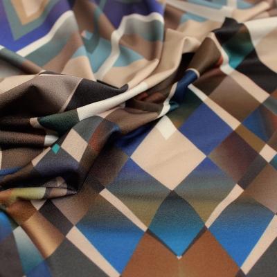 Stretch jersey stof meerkleurige vintage print