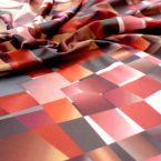 Tissu jersey strech avec motifs vintage multicolore