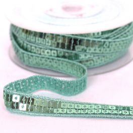 Bias tape with green sequins