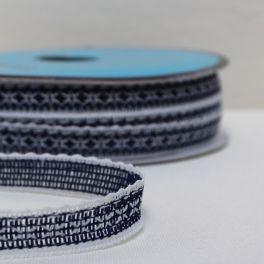 ruban bleu marine et blanc