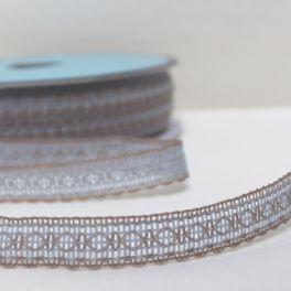 ruban gris bleu et blanc