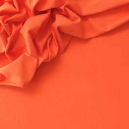 Stretch orange jersey fabric in lyocell (bio) and elastane