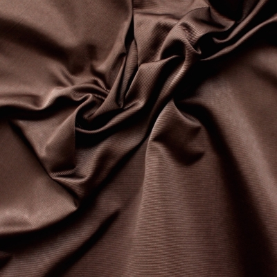 Faille de soie unie marron sombre