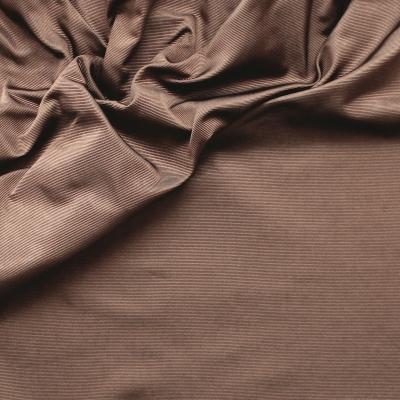 Faille de soie unie marron praliné