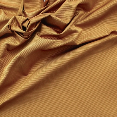 Faille de soie unie marron doré