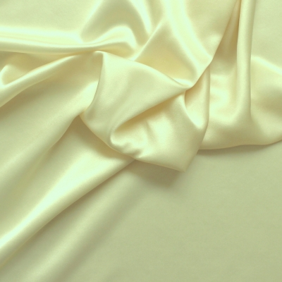 Ivory crêpe satin silk