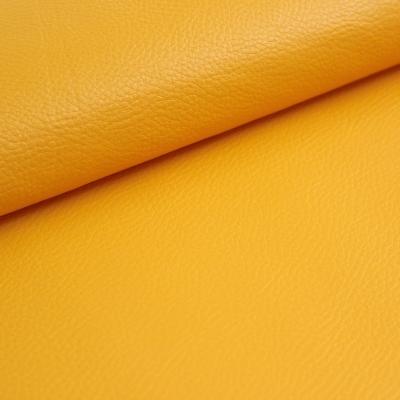 Simili cuir imitation veau jaune curcuma
