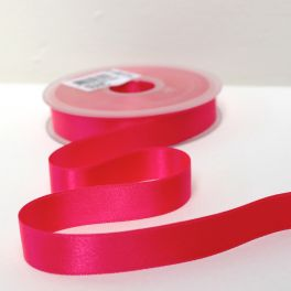 Double-sided satin ribbon fluo pink