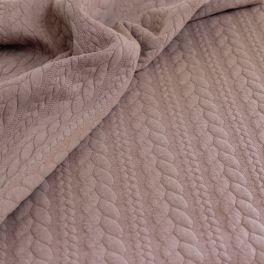 Tissu jersey matelassé à motif torsade
