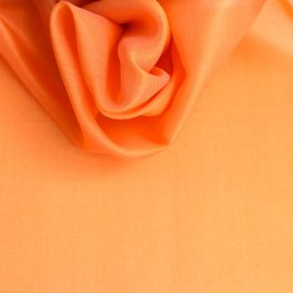 Organza fabric in 100% silk apricot color
