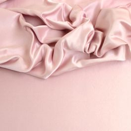 Pale pink leather satin