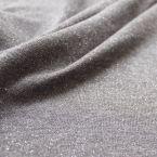 Sweatshirtstof gemoltoneerd grijs met zilveren pailletjes