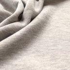 Tissu sweat molletonné pailleté gris clair