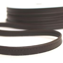 Dark brown piping cord imitation leather