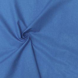 Cotton cretonne plain azure blue