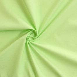 Cotton cretonne plain anise green