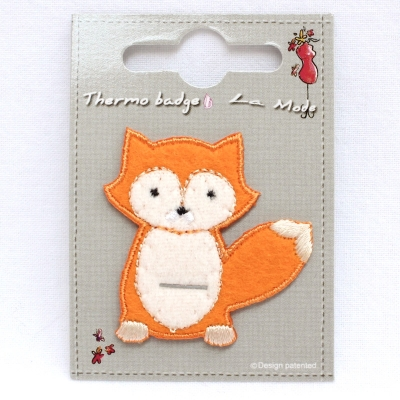 Iron-on patch little red fox