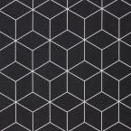Tissu d'ameublement à motif géométrique noir
