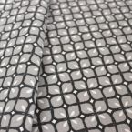 Furniture fabric printed with grey mosaic
